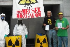 Uran-Action-Day 2012 at Széchenyi tér, Pécs, Southern Hungary