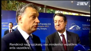 "Orbán in Cyprus: ""Strong leaders"""