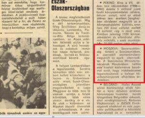 A Dunántúli Napló első tudósítása Csernobilról, 1986. ápr. 29-én
