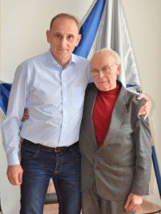 Barna Illés, cukrászmester dr. Gémesi György Gödöllő polgármesterével