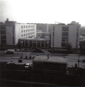 Uránváros, a munkásszálló keleti része, 1968-ban