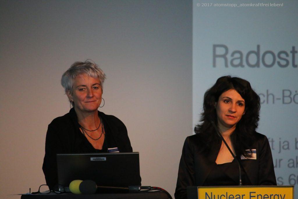 Gaby Schweiger (li.), Mütter gegen Atomgefahr (Mga Freistadt) - Radostina Primova (HBS)