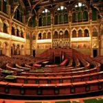 Sitzungssaal des ungarischen Parlaments