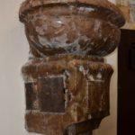 Szenteltvíz tartó a Havihegyi templomban